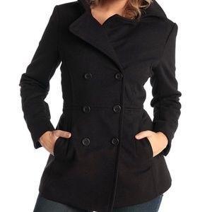 Michael Kors Peacoat | Black Peacoat | Wool Coat